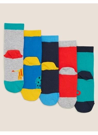 Marks & Spencer 5'li Zürafa Desenli Çorap Renkli